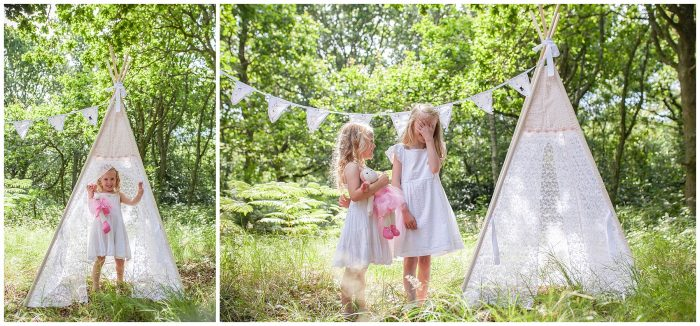 Teepees Photo Shoot Forest and Beach