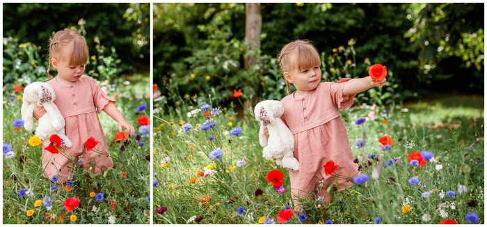 Dorset Wild Flowers Family Photography