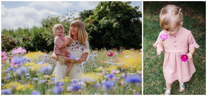 Dorset Wild Flowers Family Photography