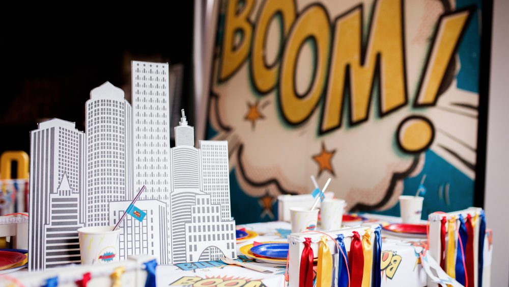 Childrens Party Superhero Decoration