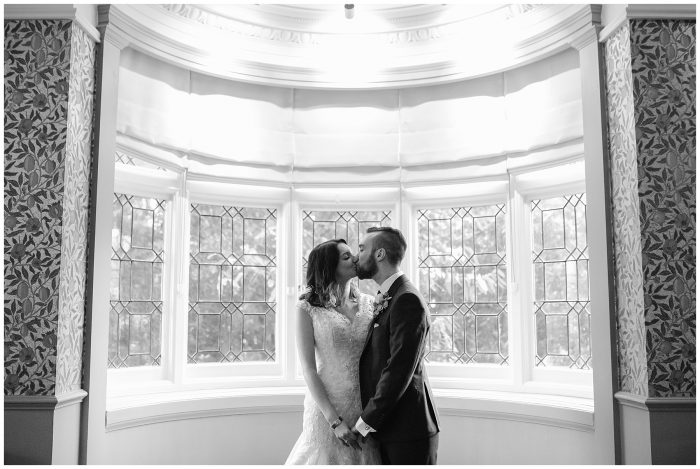 Bride and Groom portrait Wedding at the Manor at Sway